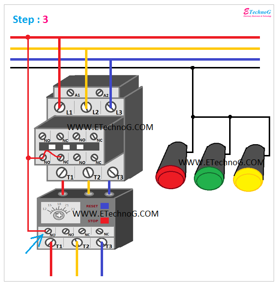 ON, OFF, TRIP Indication Lamp Wiring Connection 3