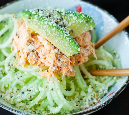SPICY SRIRACHA CRAB AND CUCUMBER SALAD #vegetarian #appetizers