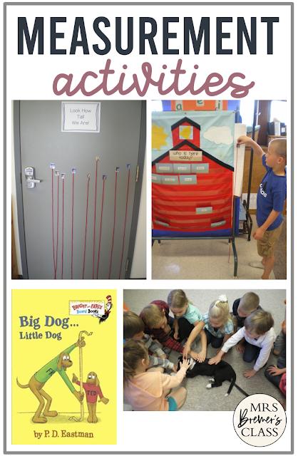 Fun measurement math activities and ideas for Kindergarten
