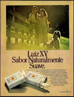 propaganda cigarros Luiz XV - 1978; propaganda anos 70; história decada de 70; reclame anos 70; propaganda cigarros anos 70; Brazil in the 70s; Oswaldo Hernandez;