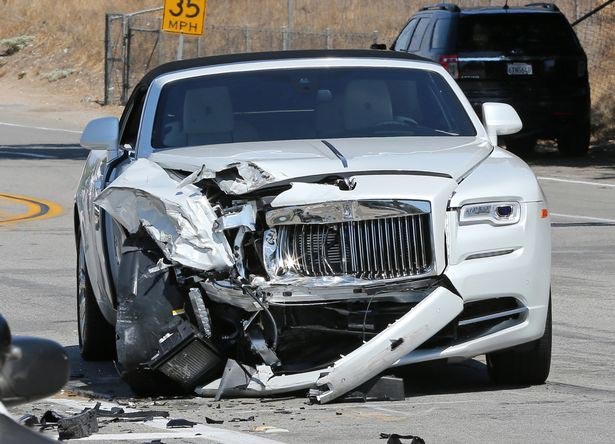 More photos from Kris Jenner 136m naira Rolls Royce crash scene