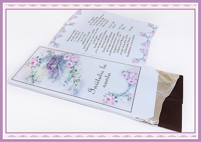 invitatii nunta ciocolata vintage