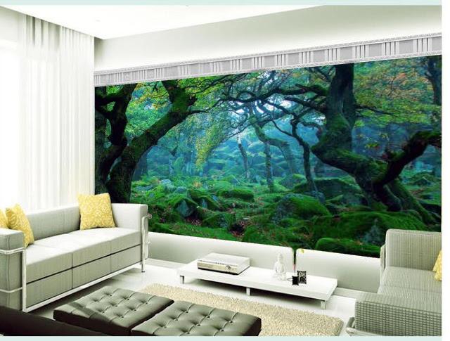 wallpaper diding ruang tamu