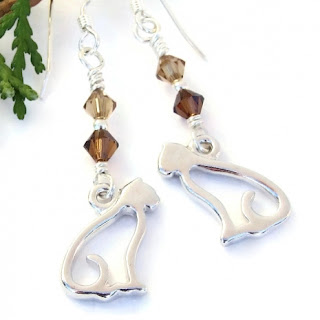 cat kitty earrings gift idea for women