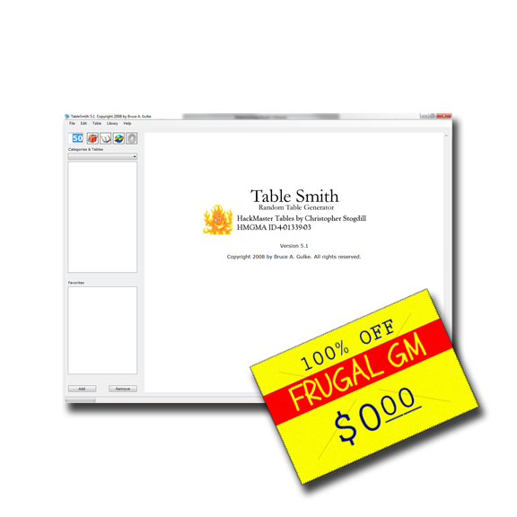 Free GM Resource: Tablesmith