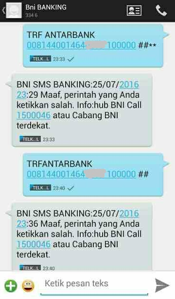 contoh format sms banking bni isi pulsa