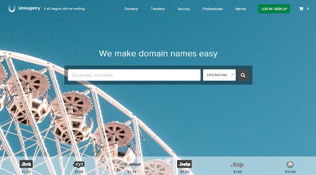 Cara mengarahkan domain dari uniregistry.com ke blogger