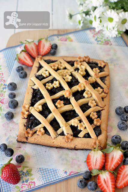 Italian Blueberry Crostata Less Sugar Blueberry Jam