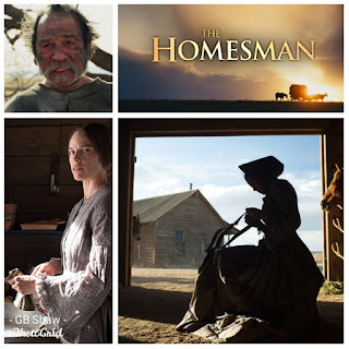 Collage of scenes from The Homesman (2014)