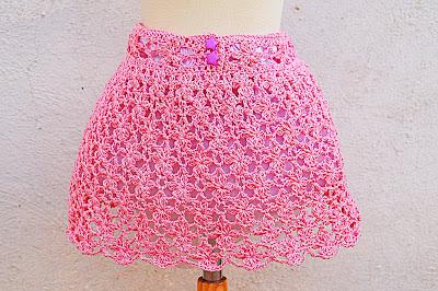 1 - Crochet Falda de flores a crochet y ganchillo muy fácil y rápida por MAJOVEL CROCHET