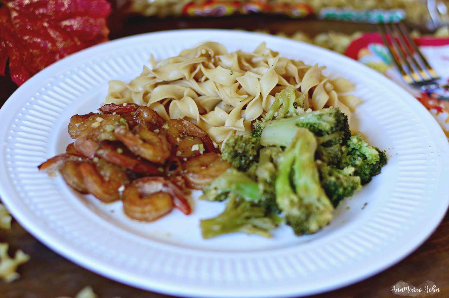 Quick & Easy: Honey Garlic Shrimp Noodles ~ #NoYolks #NoOtherNoodle