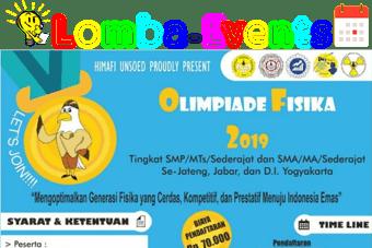 Olimpiade Fisika SMP & SMA Sederajat Unsoed 2019 Se-Jabar, Jateng, Yogya