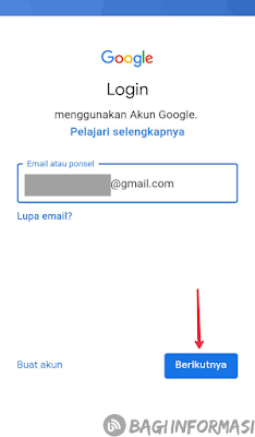 Menambahkan akun google yang sudah ada di android