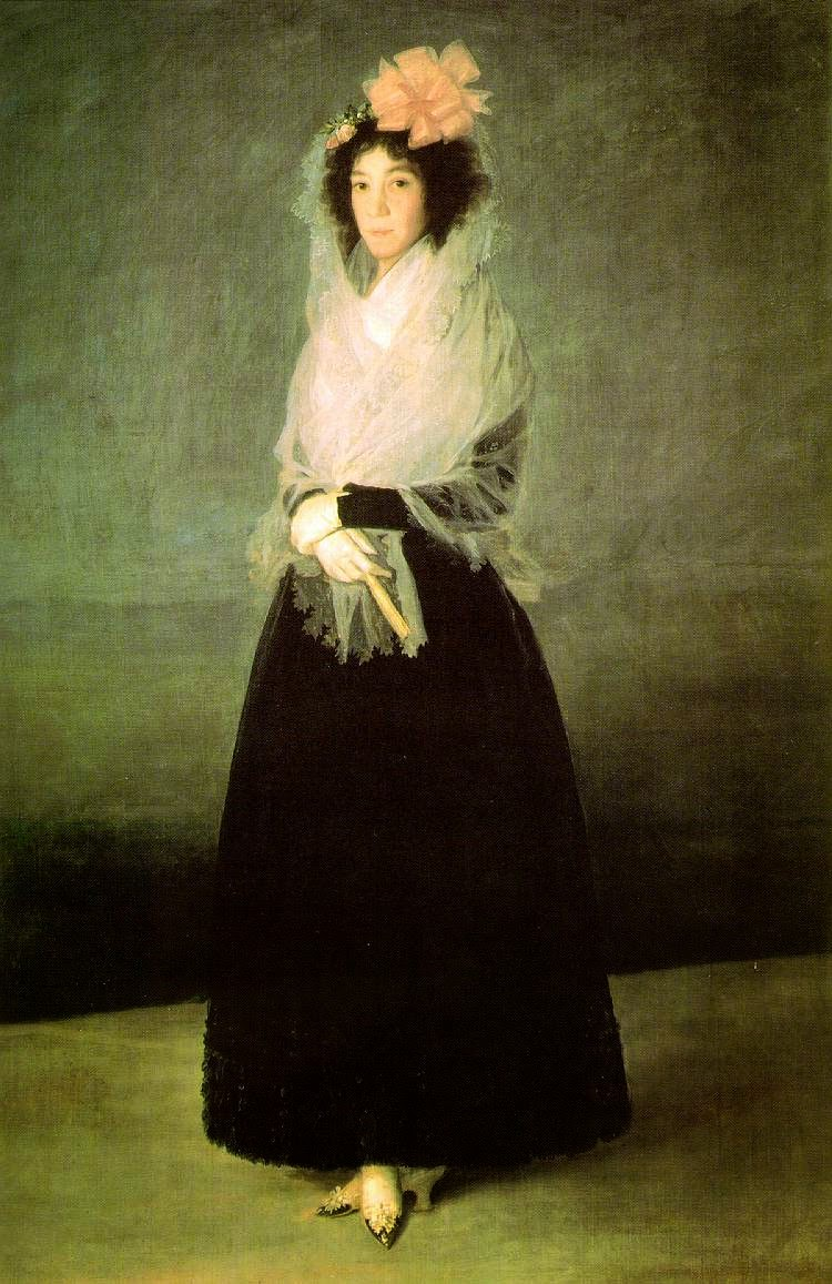 A Condessa de Carpio, Marquesa de la Solana - Goya, Francisco e suas pinturas ~ Foi um importante pintor espanhol da fase do Romantismo