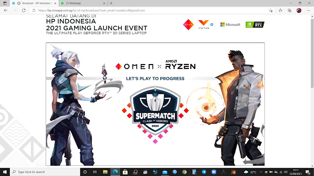 HP Indonesia 2021 Gaming Launch Event
