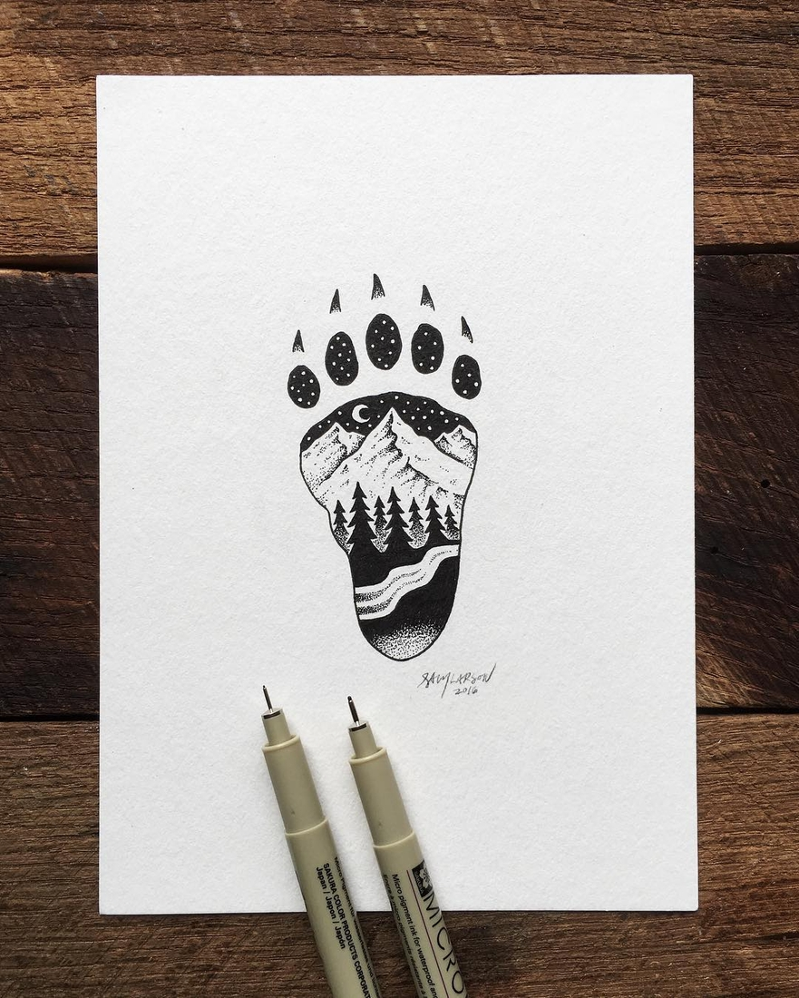 11-Footprint-Sam-Larson-Injection-of-Inspiration-in-Diverse-Drawings-www-designstack-co