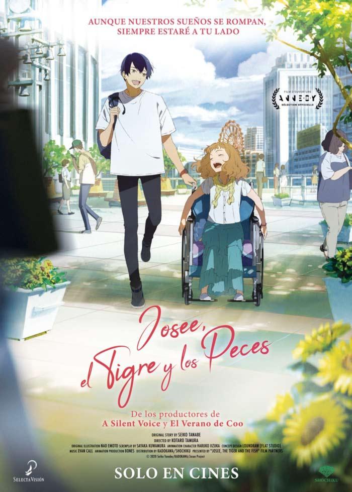 Josee, el Tigre y los Peces (Josee to Tora to Sakana-tachi) anime film - Selecta Visión - poster