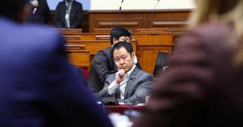 Debate sobre desafuero a Congresista Kenji Fujimori será el miércoles 6 de junio