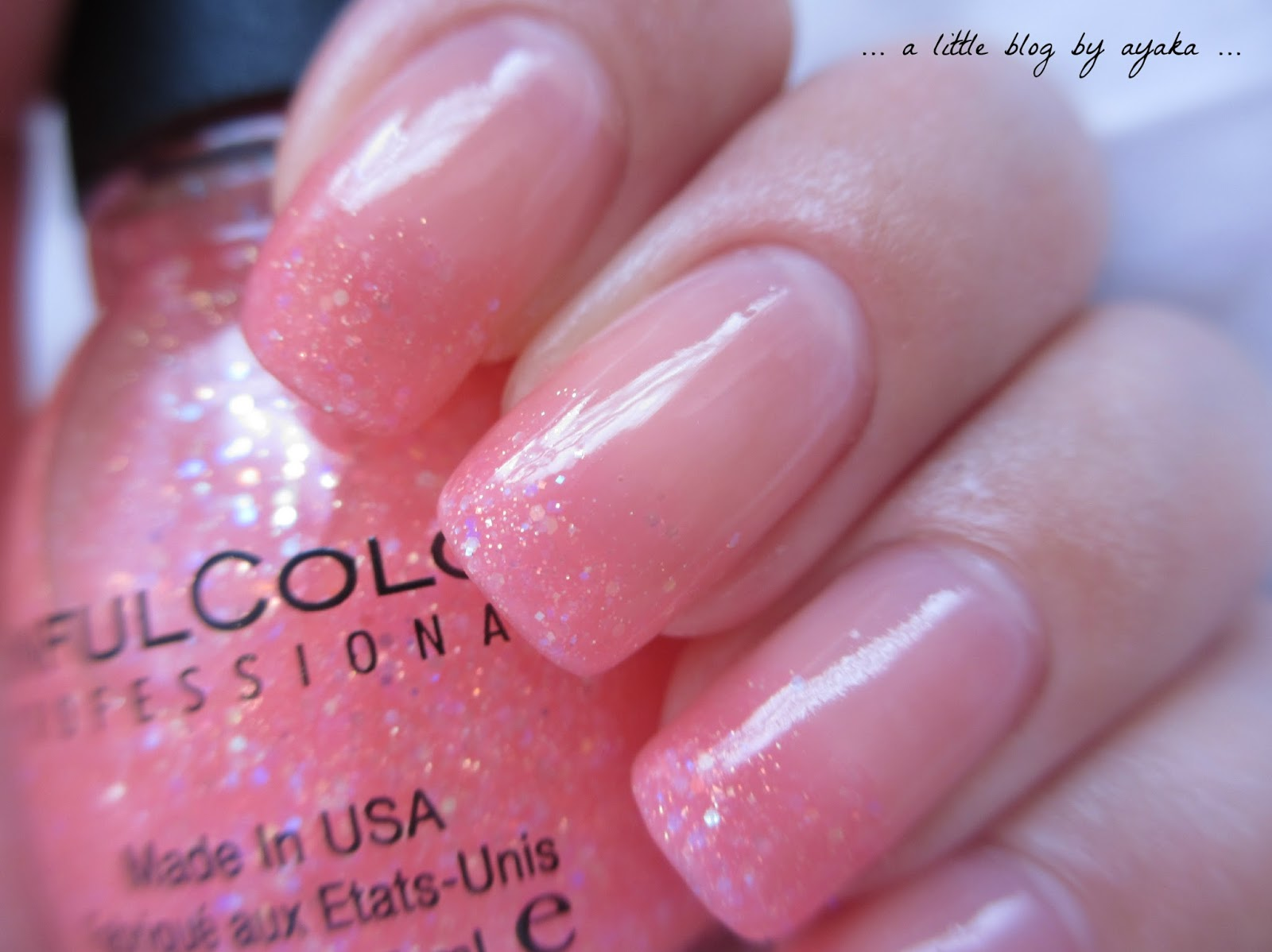 A Little Blog By Ayaka Pink Glitter Ombre