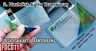 Flashdisk Kartu Transparan merupakan salah satu jenis flashdisk kartu untuk dijadikan souvenir