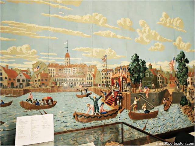 Papel Pintado con la Visita de Washington a Nueva York de la Mansión de John Brown, Providence