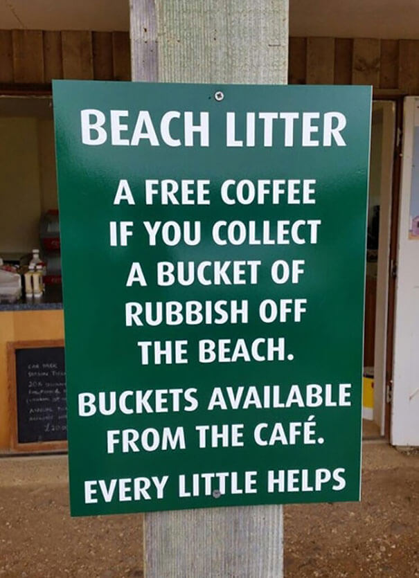 20 Brilliant Ideas That Should Become Reality Everywhere - Free Coffee In Exchange For Some Rubbish