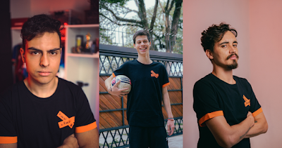 Alan, João Pedro e Tutti são os finalistas do reality show Microfone Aberto. Crédito: Felipe Gabriel/Divulgação Kwai