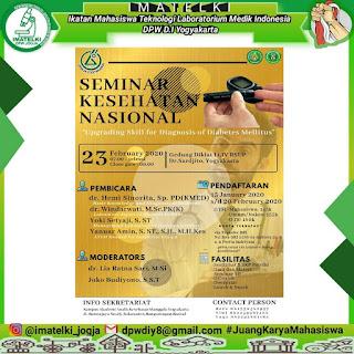 Seminar Ilmiah AAK Manggala Yogyakarta Jurusan ATLM 2020 | Upgrading Skill For Diagnosis Of Diabetes Mellitus
