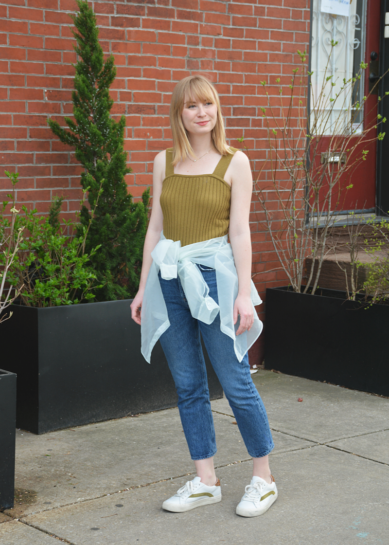 Styling a Sweater Tank for Spring | Organized Mess