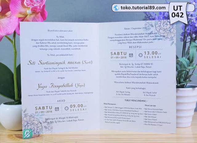 Undangan pernikahan UT042 - Seimpel Lipat 2 +free kartu ucapan terima kasih