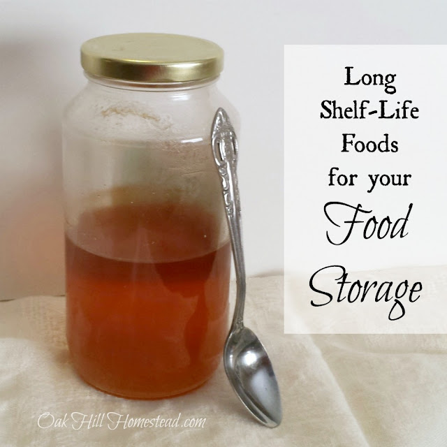 Five long shelf-life foods for your food storage.