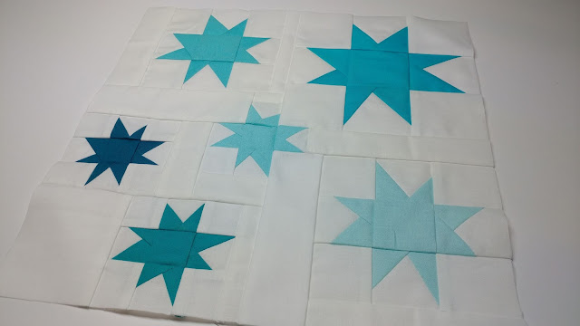 Stars quilt block for QAL By the Sea