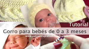 Cómo tejer gorro con una trenza para bebé de 0 a 3 meses / Tutorial DIY