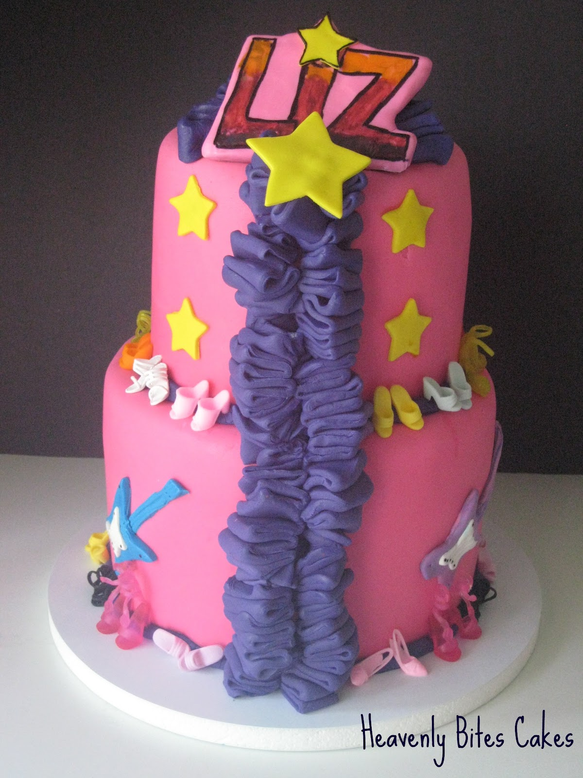 Jem And The Holograms Themed Wedding Cake