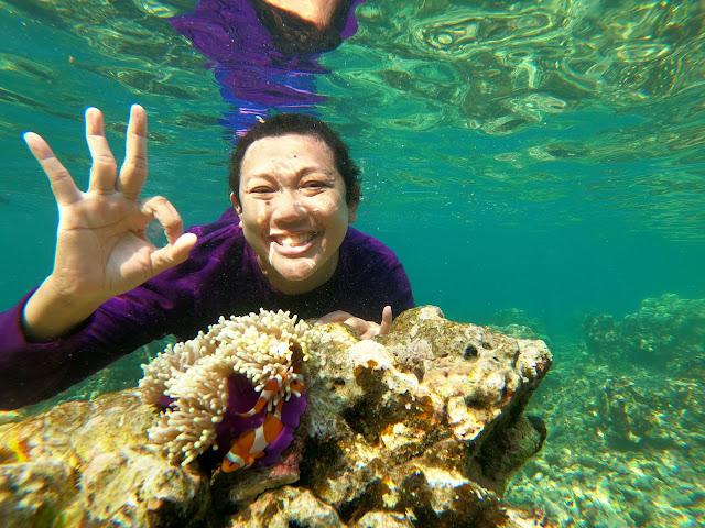 Snorkeling at Pahawang Island, Lampung, Indonesia