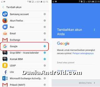 Cara Menambah akun google di J2 Prime samsung