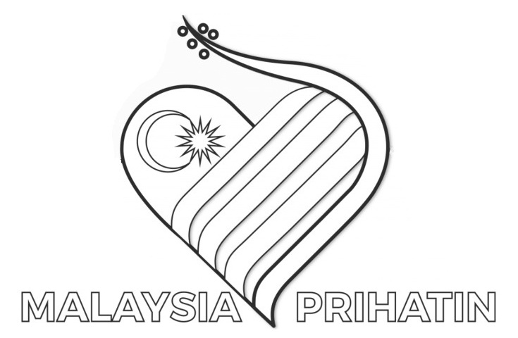 Logo Gambar Bendera Malaysia Hitam Putih