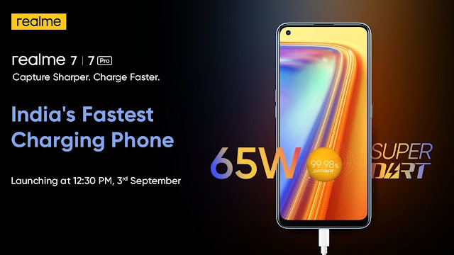 Realme 7 Pro and Realme 7 will be launched in India on September 3.