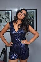 Sanjana looks happy in sparkling short Deep neck Purple Gown ~  Exclusive 65.JPG