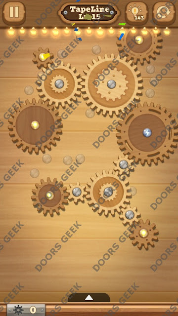 Fix it: Gear Puzzle [TapeLine] Level 15 Solution, Cheats, Walkthrough for Android, iPhone, iPad and iPod