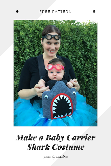 Make a Halloween Baby Carrier Shark Costume