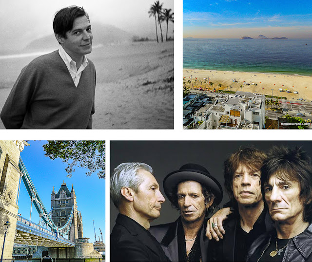 Música para viajar: Tom Jobim no Rio, Rolling Stones em Londres