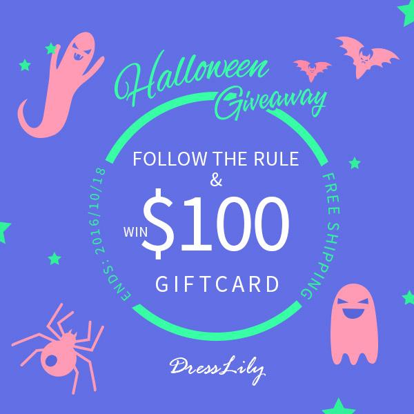 6d7f5ba9e94 Giveaway  Dresslily Halloween Giveaway