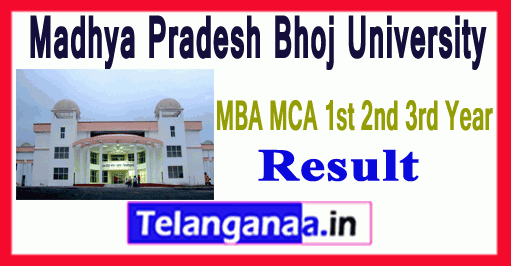 Madhya Pradesh Bhoj University MBA MCA 1st 2nd 3rd Year Result