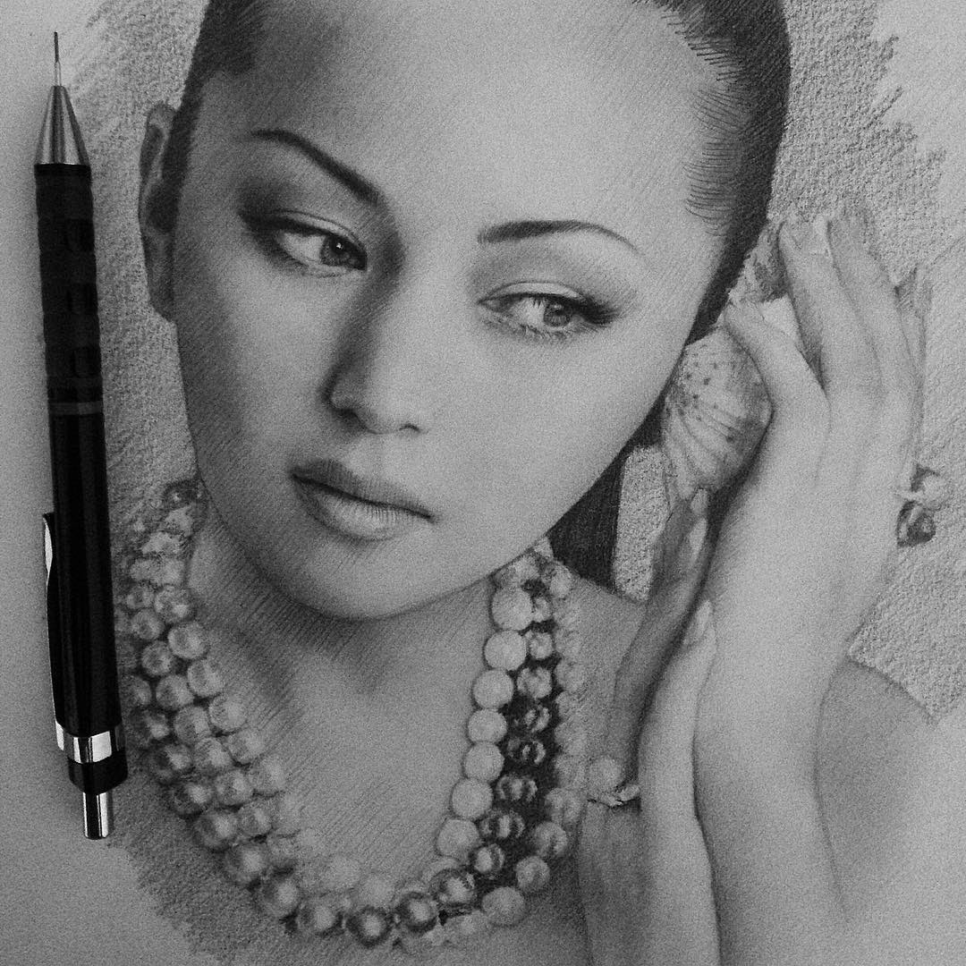 11-Баян-Есентаева-Berikuly-Erkin-Very-Expressive-Realistic-Portraits-www-designstack-co