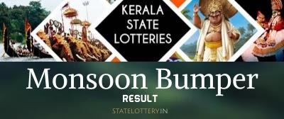 Kerala lottery Monsoon bumper result