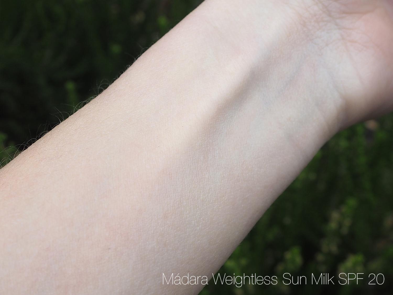 Mádara Sun Milk SPF 20 verblendet