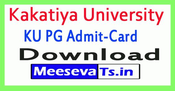 Kakatiya University KU PG Exam Hall Tickets