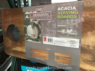 Costco 1134731 - Denmark Acacia Serving Boards: display food beautifully, the way is should be