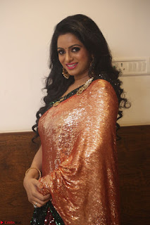 Udaya Bhanu lookssizzling in a Saree Choli at Gautam Nanda music launchi ~ Exclusive Celebrities Galleries 127.JPG
